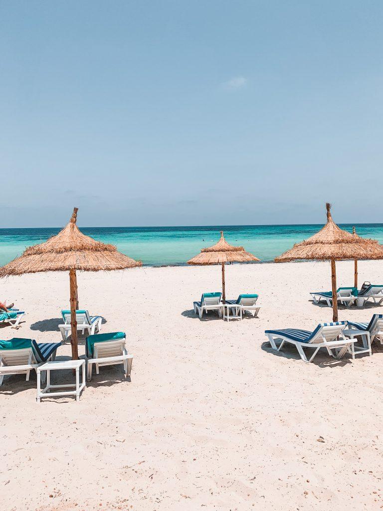 Beach in Djerba Island in Tunisia