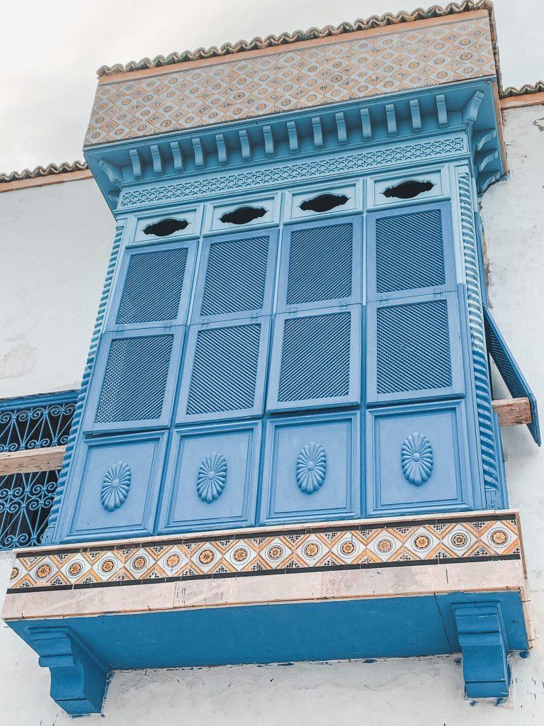 Mashrabiya in Blue